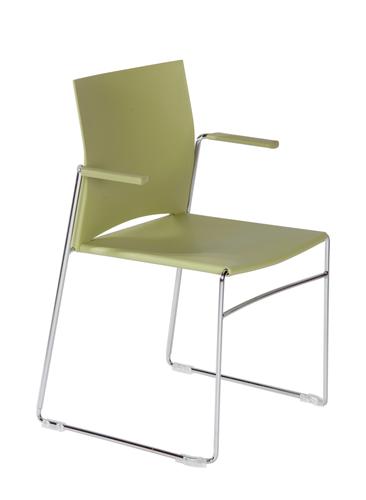 fauteuil polyvalent line fil chrom empilable bureaux pour tous. Black Bedroom Furniture Sets. Home Design Ideas