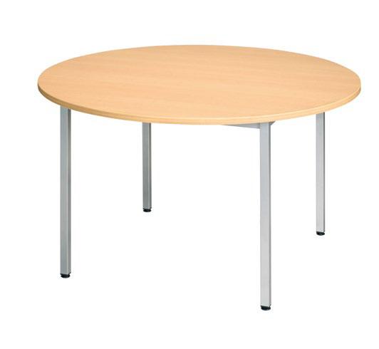 Table ronde 4 pieds alu diam tre 120 bureaux pour tous - Diametre table ronde 4 personnes ...