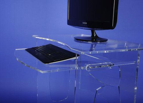 Bureau d 39 appoint tablette coulissante mobilier de for Bureau d appoint