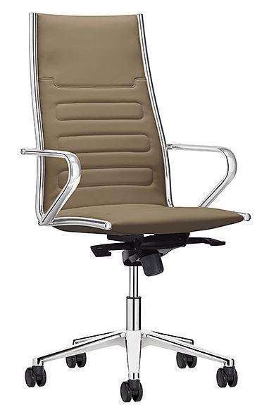 fauteuil classe haut dossier basculant alu poli bureaux pour tous. Black Bedroom Furniture Sets. Home Design Ideas