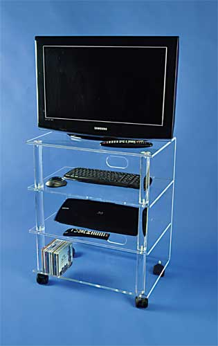 meuble tv hifi sur roulettes plexi mobilier de bureau. Black Bedroom Furniture Sets. Home Design Ideas