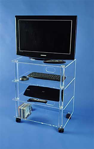meuble tv hifi sur roulettes plexi bureaux pour tous. Black Bedroom Furniture Sets. Home Design Ideas