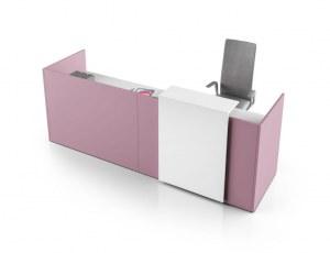 Banque d'Accueil Fun 165 Pink