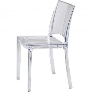 Chaise empilable en polycarbonate transparent