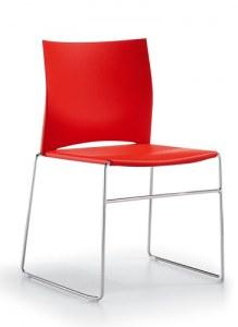 Chaise Polyvalente Line Fil Chromé Empilable