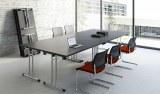 Ensemble de 4 Tables Pliantes Doly Noir et Chrome